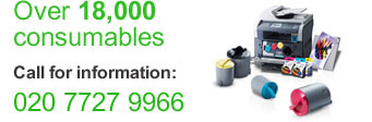 Over 18,000 consumables. Call for information: 020 7727 9966